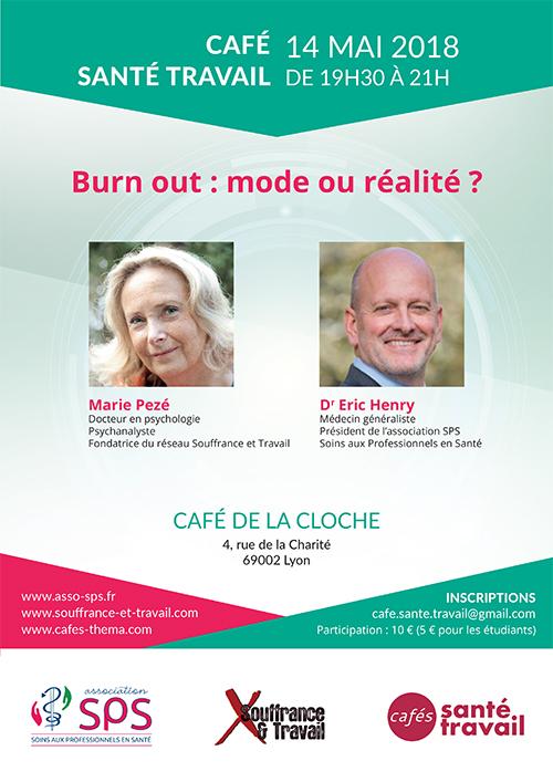 Café Citoyen Santé Travail à Lyon le 14 mai 2018 sur le burn-out