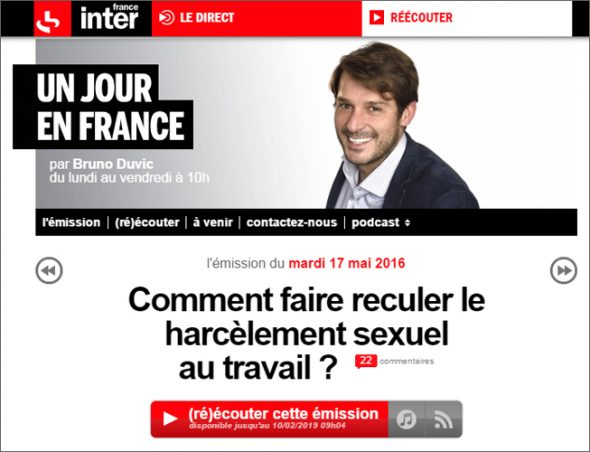 Harcèlement sexuel au travail : France Inter