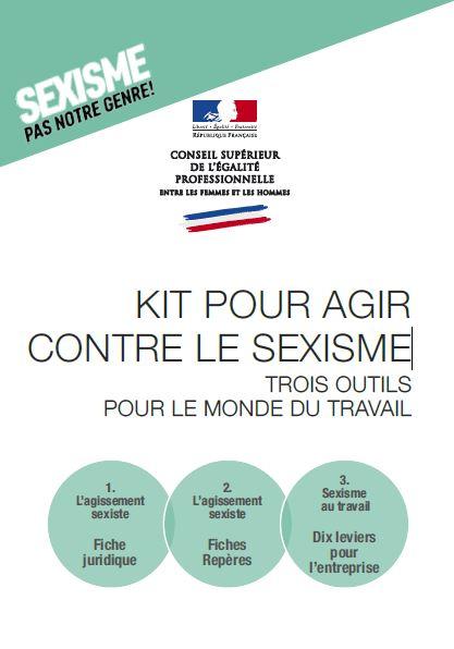 KIT POUR AGIR CONTRE LE SEXISME TROIS OUTILS POUR LE MONDE DU TRAVAIL