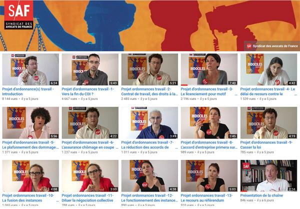 L'arme du Droit, chaîne Youtube d'information sur le droit du travail