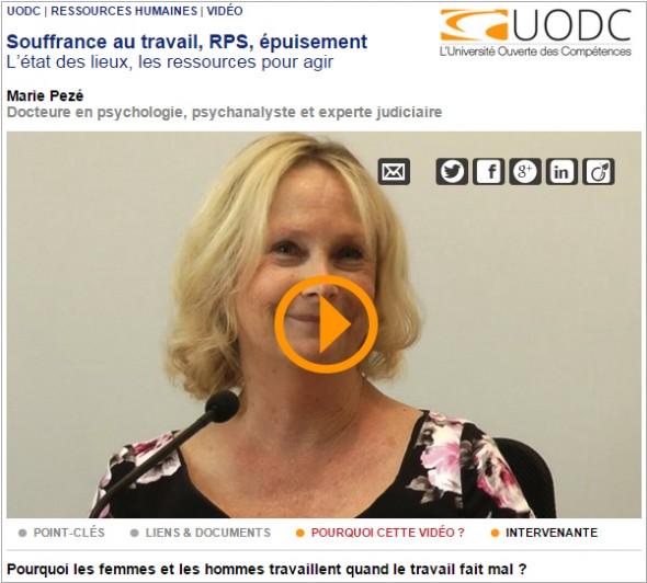Marie-Pezé : Vidéo UODC