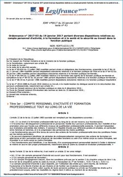 Compte personnel d'activité, formation, santé et sécurité au travail dans la fonction publique