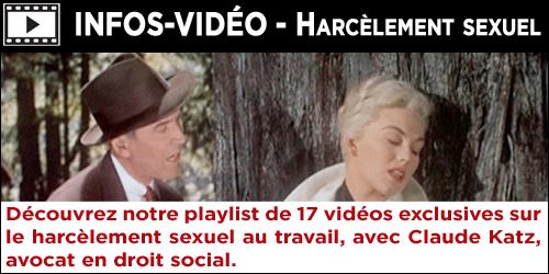 Vidéos Harcèlement sexuel