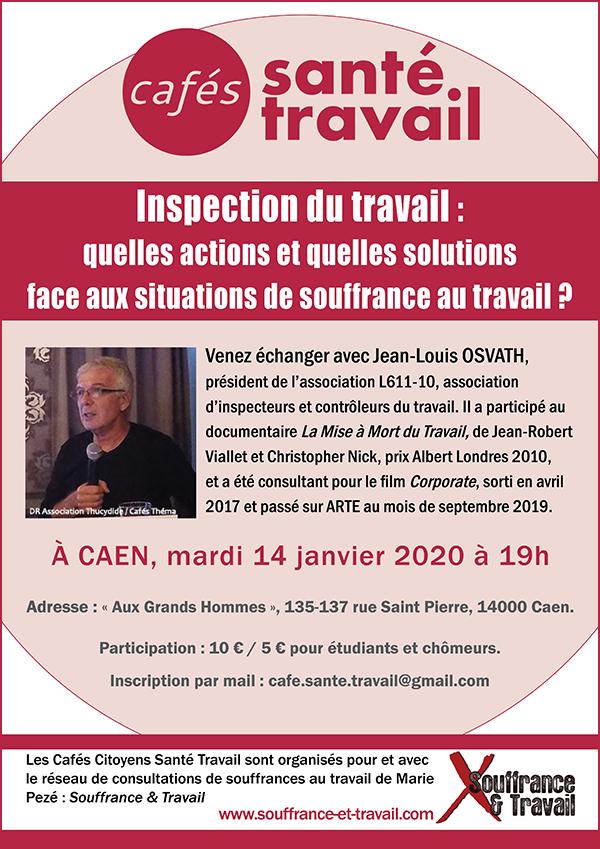 Inspcetion du travail - CAEN - Café Citoyen Santé Travail