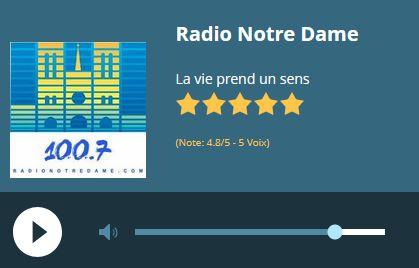 Radio en ligne France - Radio Notre-Dame