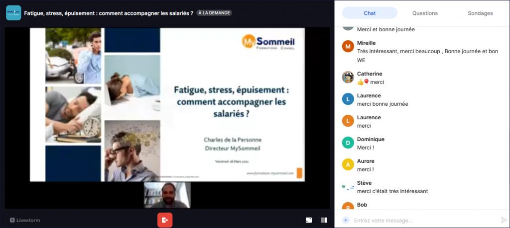 Vidéo Webinar Préventica : Fatigue, stress, épuisement : comment accompagner les salariés ?